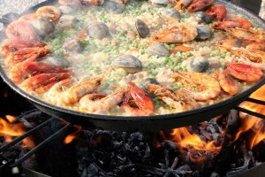 Popular Spanish food Paella
